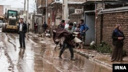 نمایی از آبگرفتگی در شهر گنبد در استان گلستان