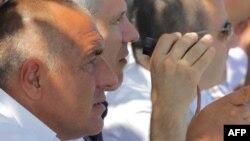 Boyko Borisov alături de fostul președinte al Serbiei, Boris Tadic.