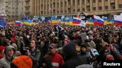 Arxiv foto: Moskvada müharibə əleyhinə mitinq. 15 mart 2014