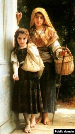 Вільям-Адольф Бугро, «Малыя жабрачкі» (1880)