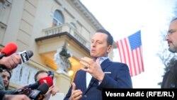 Ričard Grenel, u američkoj rezidenciji u Beogradu tokom posete 23. januara 2020.