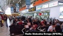 """Архивска фотографија - аеродромот """"Александар Велики"""" во Скопје"""