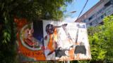 Білборд зі зірваною соціальною рекламою в місті Дніпро, що її, як кажуть місцеві активісти, розмістила мерія. Червень 2018 року.