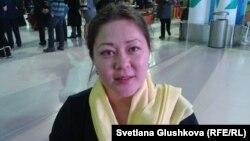 Гражданская активистка Асель Нургазиева. Астана, 10 декабря 2013 года.