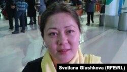 Қоғамдық белсенді Әсел Нұрғазиева. Астана, 10 желтоқсан 2013 жыл.