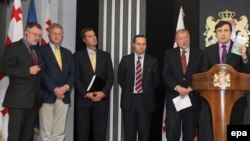 Грузия президенты Михаил Саакашвили 4 Европа дипломаты белән очрашуда