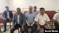 Дүйшөнкул Чотонов, Өмүрбек Чотонов жана Өмүрбек Текебаев. 29-август, 2019-жыл.