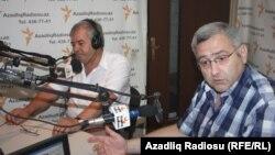 soldan sağa: Sabir Rüstəmxanlı və Aydın Əlizadə
