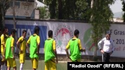 Национальная сборная Афганистана на сборах в Душанбе. Фото из архива.