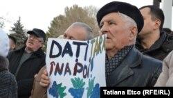 La manifestația de la Chișinău