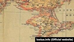 Крим на мапі України 1918 року, укладеній Степаном Рудницьким