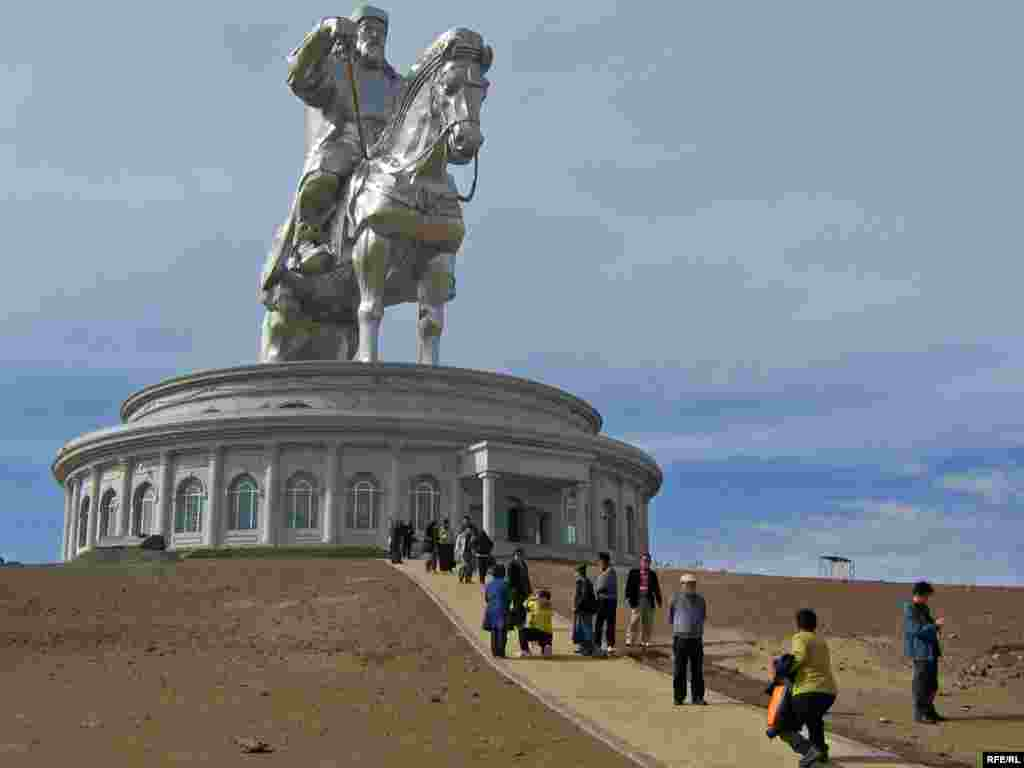 The statue is part of Mongolia's efforts to promote the legendary conquerer after years of communist-era repression.