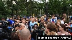 Акция на Пушкинской площади в Москве, 14 июля 2019 года