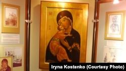 Копія Вишгородської ікони Божої Матері в Історичному музеї Вишгорода