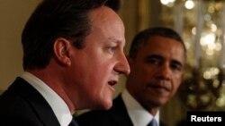 Presidenti i SHBA-së, Barack Obama(djathtas), dhe kryeministri britanik, David Cameron.
