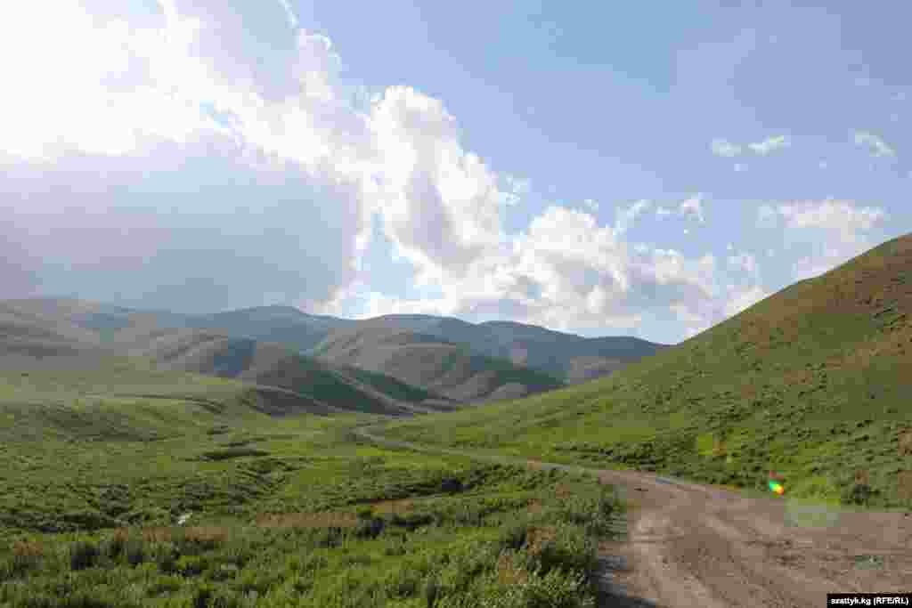 Гравий стучит по днищу автомобиля. Держим путь через Ферганский Хребет. Под гнетом неустанного ветра травы изгибаясь, создают волну, будто кто-то проводит рукой по местным лужайкам.