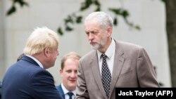 Jeremy Corbyn cu Boris Johnson în 2015