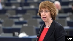 کاترین اشتون، رئیس دستگاه دیپلماسی اتحادیه اروپا