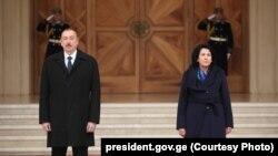 Ильхам Алиев и Саломе Зурабишвили. Архивное фото.