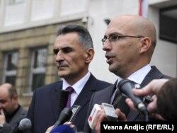 Zoran Šangut (desno) nakon sastanka sa Vladimirom Vukčevićem, 10. novembar 2011.