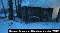 Ռուսաստան, Տոմսկի գյուղերից մեկում հրդեհ է բռնկվել փայտաշեն տնակում, 21 հունվարի, 2020թ.