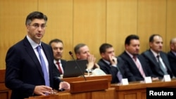 Premijer Andrej Plenković na sjednici Hrvatskog sabora, arhivska fotografija