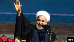 Президент Ирана Хасан Роухани. Тегеран, 11 февраля 2014 года.