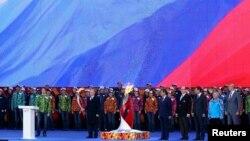Predsjednik Rusije Vladimir Putin na paljenju olimpijske baklje