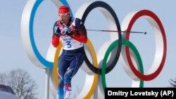 Один из оправданных лыжников Александр Легков на Олимпиаде в Сочи, 2014 год
