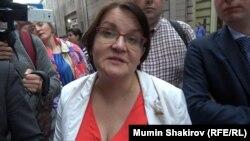 Russian opposition politician Yulia Galyamina (file photo)