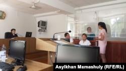 На судебном заседании по делу Сайрагуль Сауытбай. Алматинская область, 9 июля 2018 года.