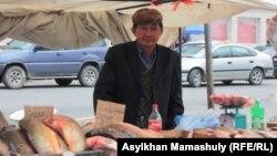 "Ешмурат Аймаханов, отец ""уехавшего в Сирию"" Максата Аймаханова. Жезказган, 24 октября 2013 года."