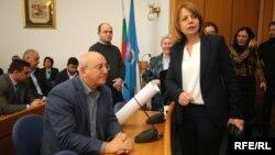 Министърът на околната среда Емил Димитров и кметът на София Йорданка Фандъкова