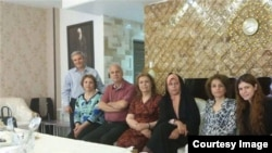 Faezeh Hasehmi meeting with Baha'is who are a persecuted religious minority in Iran. June 2016