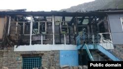 Спалений будинок Рамазана Джалалдінова