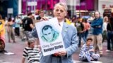 Мустафа Джемілєв на акції в підтримку Олега Сенцова. Нью-Йорк, 2 червня 2018 року