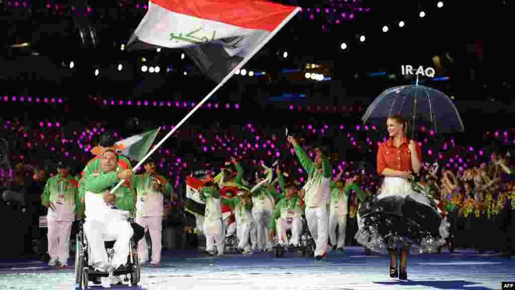 Ирак спортшыларының делегациясы. 29 тамыз 2012 жыл.