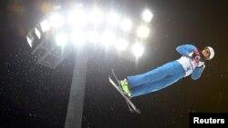 Ілюстрацыйнае фота. Беларускі фрыстайліст Антон Кушнір на алімпіядзе ў Сочы ў 2014 годзе