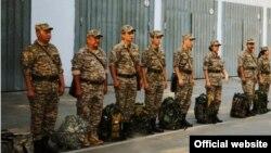 Военнослужащие на плацу. Иллюстративное фото.