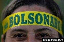 Сторонник Жаира Болсонару празднует победу. Сан-Паулу, утро 29 октября