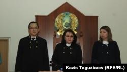 Председатель коллегии по уголовным делам Алматы Ирина Федотова — после оглашения ею постановления апелляционного суда по делу «джихадистов».