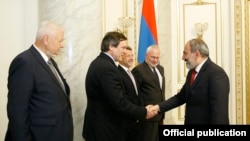 Armenia - Prime Minister Nikol Pashinian meets with OSCE Minsk Group Co-Chairs, Yerevan,27May,2019