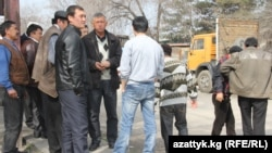 NATO supply drivers voiced their displeasure at a loss of work in the Kyrgyz capital, Bishkek.