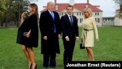 ԱՄՆ և Ֆրանսիայի նախագահները՝ տիկնանց հետ, Վաշինգտոն, 23-ը ապրիլի, 2018թ․