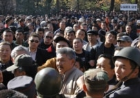 Opposition protesters in Bishkek on November 3 (ITAR-TASS)