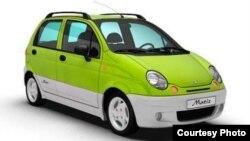 GM-Uzbekistan қўшма корхонасида ишлаб чиқарилган Матиз автомобили.