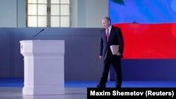 Володимир Путін на виступі перед Федеральними зборами, 1 березня 2018 року