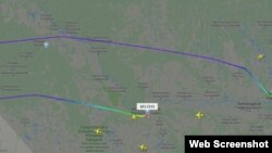 სურგუტ-მოსკოვის ავიარეისი flightradar-ის ტრეკერზე
