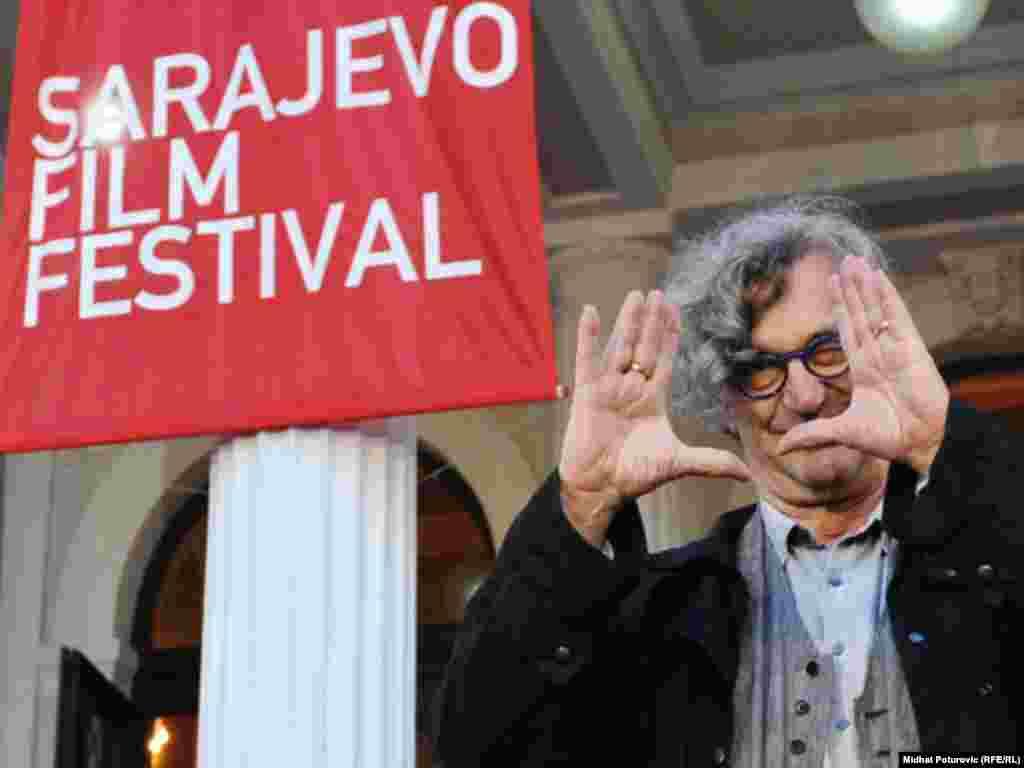 ویم وندرز، کارگردان آلمانی در جشنواره فیلم سارایوو