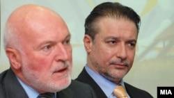 Амбасадорот на ЕУ Ерван Фуере и претседателот Бранко Црвенковски